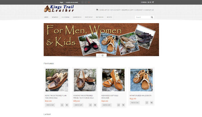Kings Trail Leather Moccasins