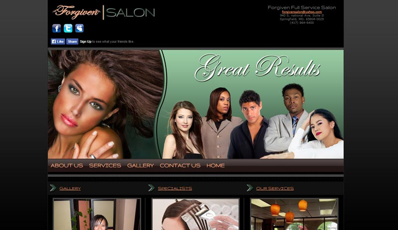Salon & Spa Website