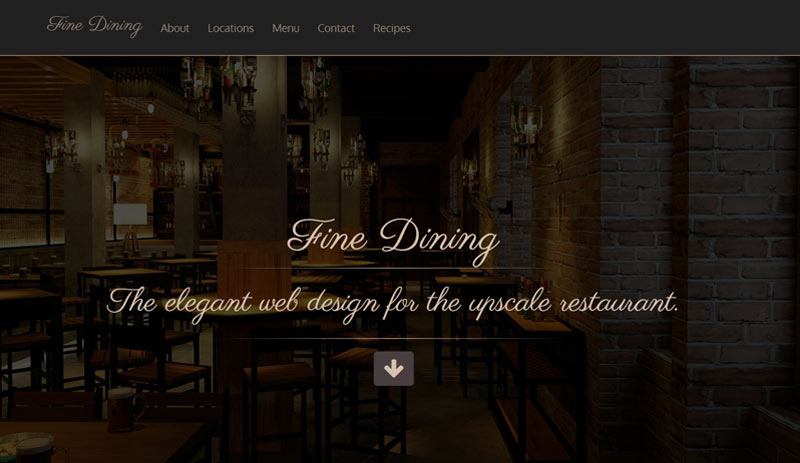Fine Dining Website
