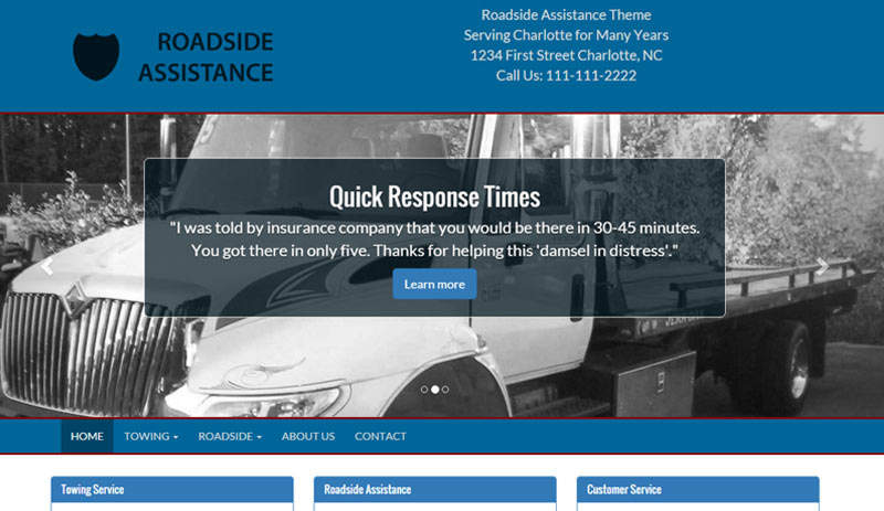 Towing Roadside Assistance Website